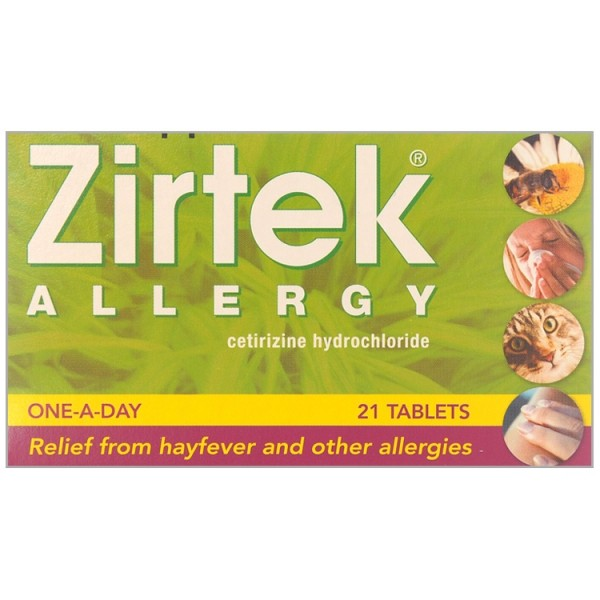 Zirtek Allergy 10mg - 21 Tablets
