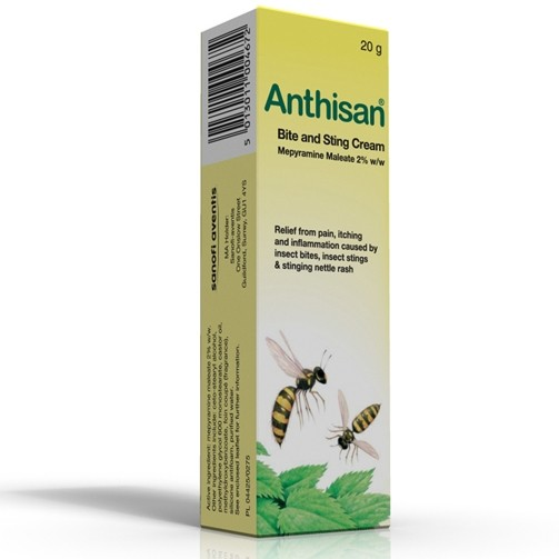 Anthisan Bite And Sting 20g 0.02 Insect Bite Relief