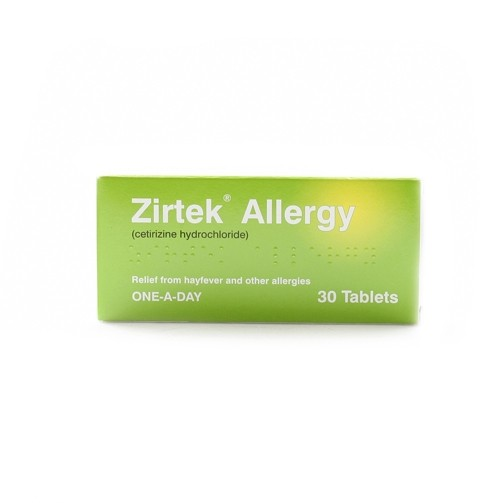 Zirtek Allergy 10mg - 30 Tablets