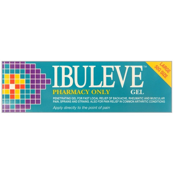 Ibuleve Gel 50g Muscular Pain Relief