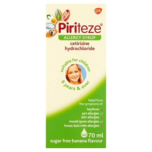 Piriteze Allergy Relief Syrup 70ml