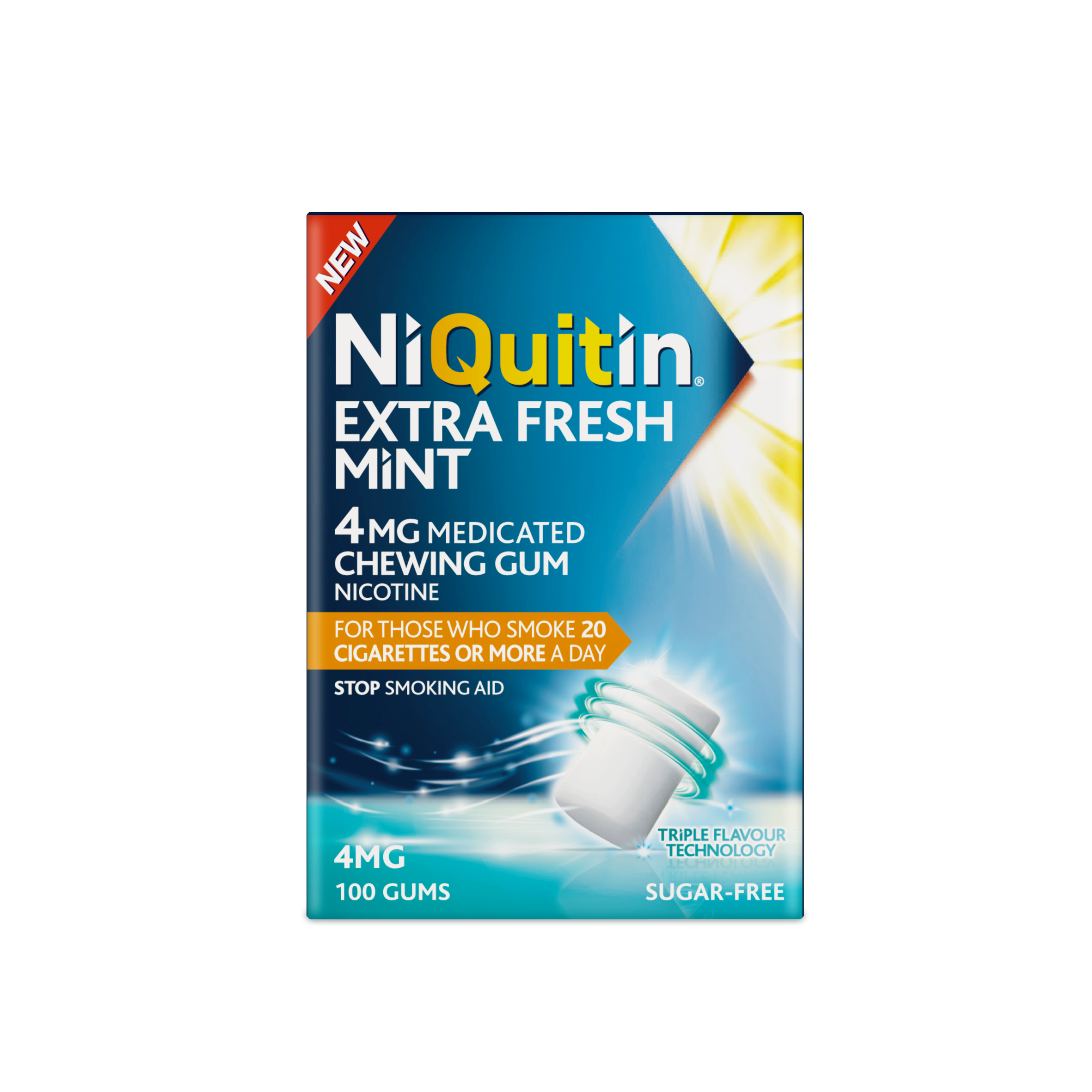 NiQuitin Extra Fresh Mint 4mg Medicated Chewing Gum