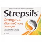 Strepsils Orange with Vitamin C - 36 Lozenges