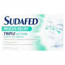 Sudafed Mucus Relief – 16 Tablets