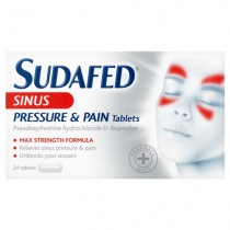 Sudafed Sinus Pressure & Pain – 24 Tablets