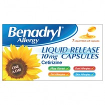 Benadryl Allergy Liquid Release 10MG - 7 Capsules