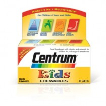 Centrum Chewable Kids Multivitamins & Minerals - 30 Tablets