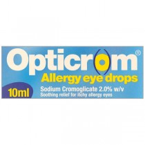 Opticrom Allergy 10ml 0.02 Itchy Irritated Eye Relief