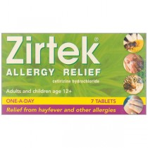 Zirtek Allergy 10mg - 7 Tablets