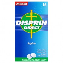 Disprin Direct Aspirin Tablets x16