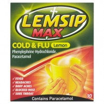 Lemsip Max Cold & Flu Lemon - 10 Sachets