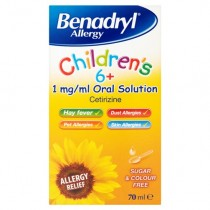 Benadryl Allergy Children's 6+ Oral Solution - 70ml