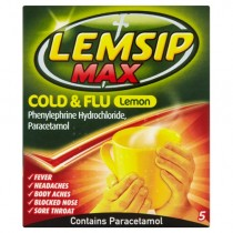 Lemsip Max Cold & Flu Lemon - 5 Sachets