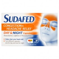 Sudafed Day & Night Congestion & Headache Relief Capsules 16's