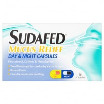 Sudafed Mucus Relief Day & Night Capsules 16's