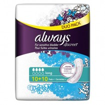 Always Discreet Pads Long Value Pack 20s