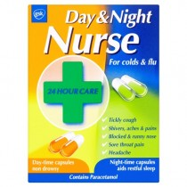 Day & Night Nurse Duo 24 Cold & Flu Symptom Relief