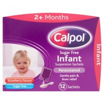 Calpol Infant Sugar Free Strawberry Suspension 12 Sachets