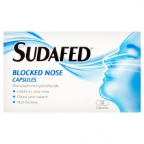 Sudafed Blocked Nose – 12 Capsules