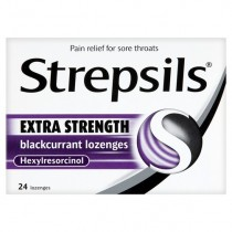 Strepsils Extra Strength Blackcurrant - 24 Lozenges