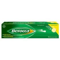 Berocca Tropical Flavour 15 Effervescent Tablets