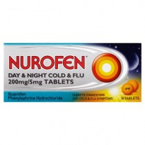 Nurofen Day & Night Cold & Flu 200mg/5mg - 16 Tablets