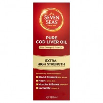 Seven Seas Extra High Strength Pure Cod Liver Oil 150ml