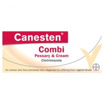 Canesten Combi Pessary & Cream out of packet shot