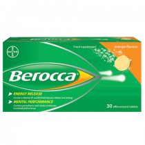 Berocca Orange Flavour 30 Effervescent Tablets