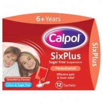 Calpol Six Plus Sugar Free Suspension 12 Sachets