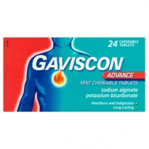 Gaviscon Advanced Peppermint - 24 Tablets