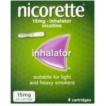 Nicorette Inhalator 15mg - 4 Cartridges
