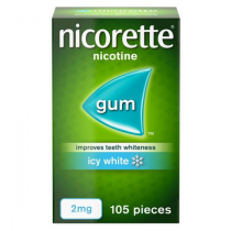 Nicorette Icy White Gum 2mg - 105 pieces