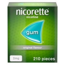 Nicorette Original Gum 2mg - 210 Pieces