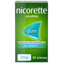 Nicorette Icy White Gum 2mg - 25 pieces