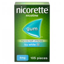Nicorette Icy White Gum 4mg - 105 pieces