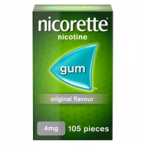 Nicorette Original Gum 4mg - 105 Pieces