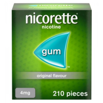 Nicorette Original Gum 4mg - 210 Pieces