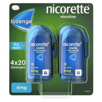 Nicorette Cools Icy Mint 4mg - 80 Lozenges