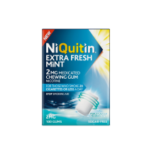 NiQuitin Extra Fresh Mint 2mg Medicated Chewing Gum