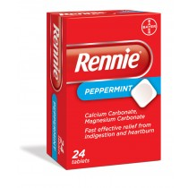 Rennie Peppermint - 24 Tablets